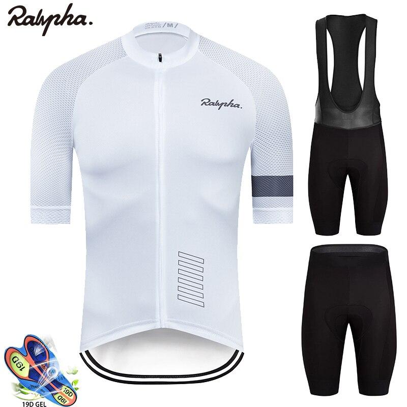 2020 rapha ciclismo Set Jersey Uomo in Bicicletta Manica Corta Vestiti Della Bicicletta Kit Mtb Della Bici Triathlon Usura Uniforme maillot ciclismo