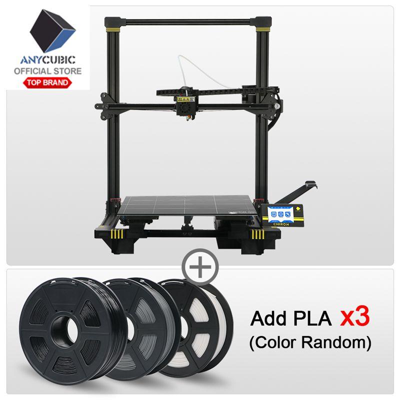 ANYCUBIC Chiron 3D Impressora Plus Size TFT Auto-nivelamento Impressora 3d Kit de Impressora Extrusora Dupla Z Axisolor 3D Titan 3d Drucker