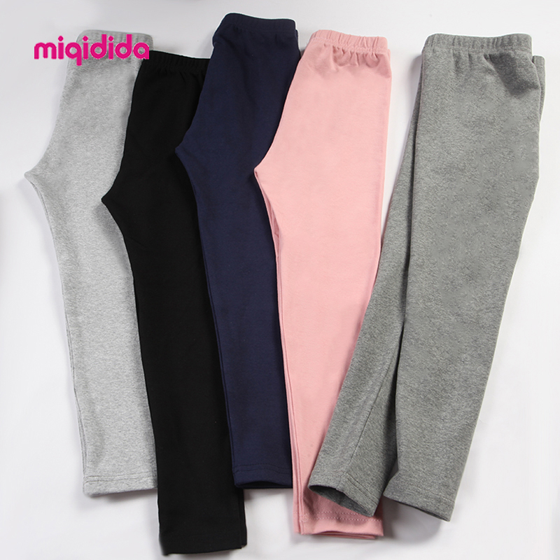 2019 Autumn Winter Girls Leggings Children Pants Solid Warm Pants For Girl Pencil Trousers Teenager 1 12 Years Clothing|Pants| |  - AliExpress