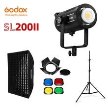 Godox SL200II SL 200W II LED فيديو ضوء 200W بوينس جبل النهار المتوازن 5600K 2.4G اللاسلكية X نظام ل مقابلة