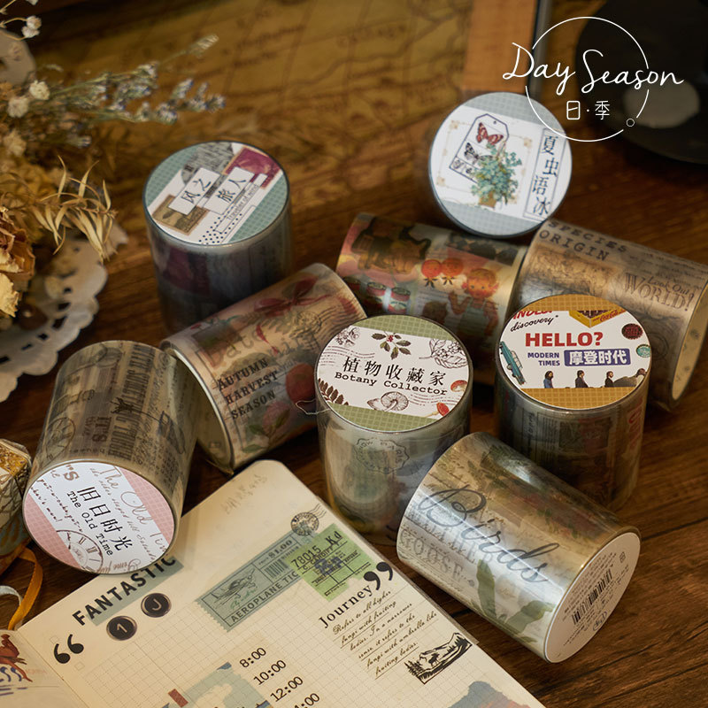 1pcs/1lot Decorative Adhesive tapes Old time Scrapbooking DIY Paper Scrapbooking Stickers 3m