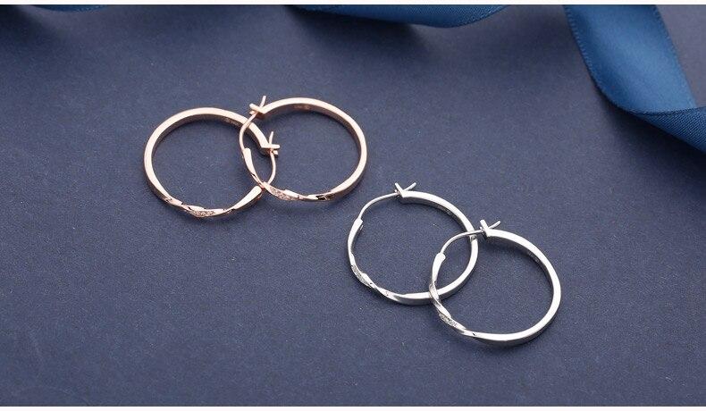 redonda círculo hoop brincos para mulher