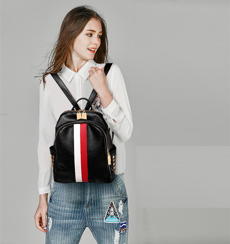 H65c662e10619493d988860aa5318acfd5 Luxury Famous Brand Designer Women PU Leather Backpack Female Casual Shoulders Bag Teenager School Bag Fashion Women's Bags