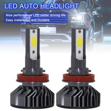 2pcs H8 H9 H11 EV8 60W 8000LM 6500K DOB LED Car Headlight Bulbs Kit Automobile Fog Lamp Hi or Lo Light Bulb for Car Vehicle