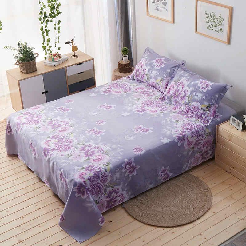 100% 綿シーツ花カラフルなベッドシートセットツインフルクイーンサイズ 3 個スーパーソフトフラットシートセット枕