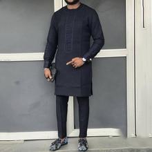 Moda Africana hombres ropa Dashiki Camiseta de manga larga 2019 otoño Riche masculino Vintage África ropa larga Camiseta Tops