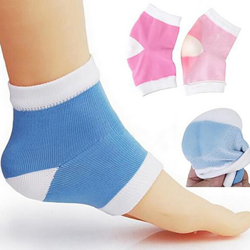 1 Pair Reusable Moisturizing Socks Heel Dry Hard Skin Protector Anti Craking Soft Massager Smooth SPA Gel Socks Pain Relief image