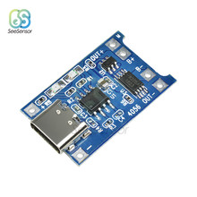 Type-C USB 5V 1A 18650 TP4056 Lithium Batterij Oplader Module Opladen Board Met Bescherming Dual Functies 1A li-ion(China)