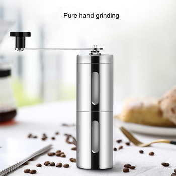 Manual Ceramic Coffee Grinder Stainless Steel Adjustable Coffee Bean Mill Hand Coffee Bean Grinder Easy Clean Kitchen Tools 1