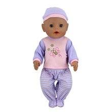 Костюм подходит для 17 дюймовых детских кукол, одежда для 43 см, аксессуары для новорожденных Aoll, подарки для маленьких девочек