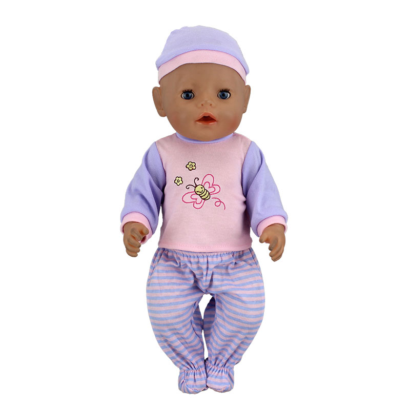 New Suit Fit For 17 Inch Baby Dolls Clothes For 43cm New Born Aoll Accessory Baby Girl Gifts