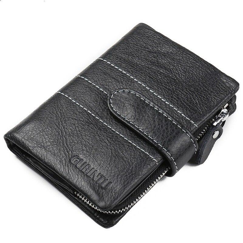 Mode hommes en cuir avec fermoir en aluminium portefeuilles porte-cartes de crédit Dollar embrayage sac d'argent Style restreint portefeuilles pour hommes