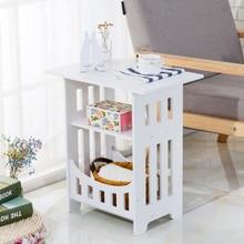 Bedside Table Living-Room Round Creative Storage-Rack Mini Modern Home House-Life PVC