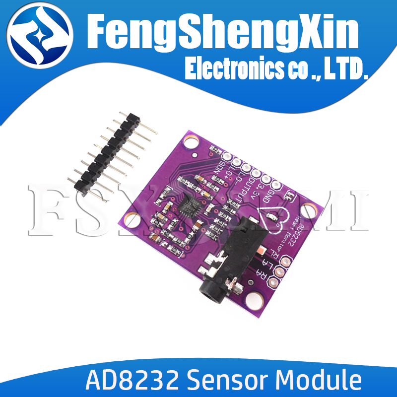 AD8232 Single Lead Heart Rate Monitor <font><b>ECG</b></font> Developemt Board Module for <font><b>Arduino</b></font> Compatible Diy Kit Electronic PCB Board Module image