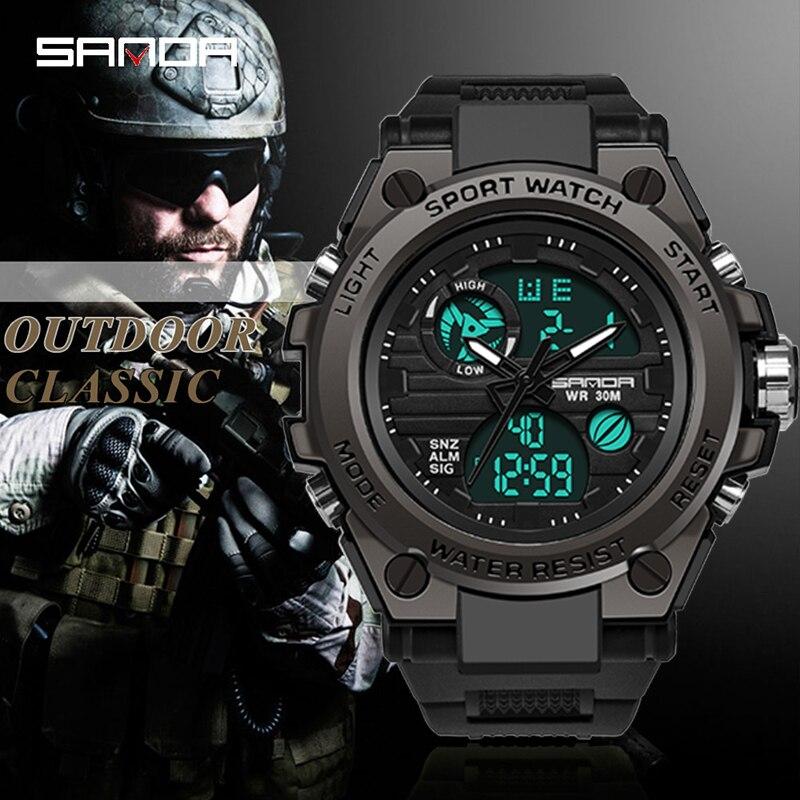 2017 Top De Luxe Marque SKMEI Hommes Sport Montres De Mode Hommes de Quartz LED Horloge Homme Armée Militaire Montre Bracelet Relogi