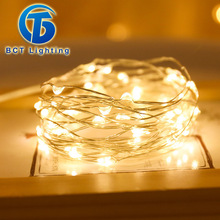String Light Led-Decorations Fairy Xmas Christmas Wedding Coopergarland Outdoor Party-Bed