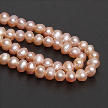 Wholesale AA 100% Natural Freshwater Rose Gold Pearls 4-5mm Real Near Round Pearl Loose Beads for Jewelry Bracelet Necklace Making DIY Handwork Craft Hole