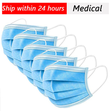Surgical mask Face Mouth Masks Non Woven Disposable Medical Anti-Dust Surgical Medical Earloops Masks