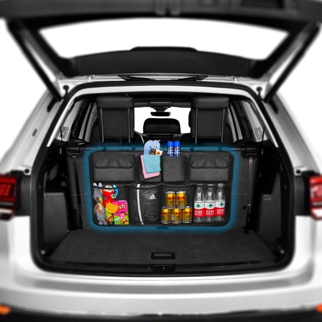 Car Trunk Organizer Backseat Storage Bag High Capacity Adjustable Auto Seat Back Oxford Cloth Organizers Universal Multi use