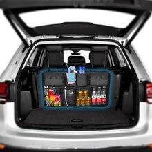 Organizador de maletero para coche, bolsa de almacenamiento de alta capacidad para la parte trasera del automóvil, ajustable, con organizadores de tela Oxford, universal, multiusos