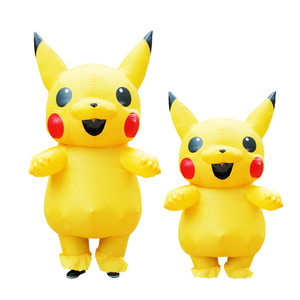 Inflatable Pikachu Costumes Halloween Cosplay Large Pokemon Mascot Costume for Kids Adults Men Women Party Inflatable Costume