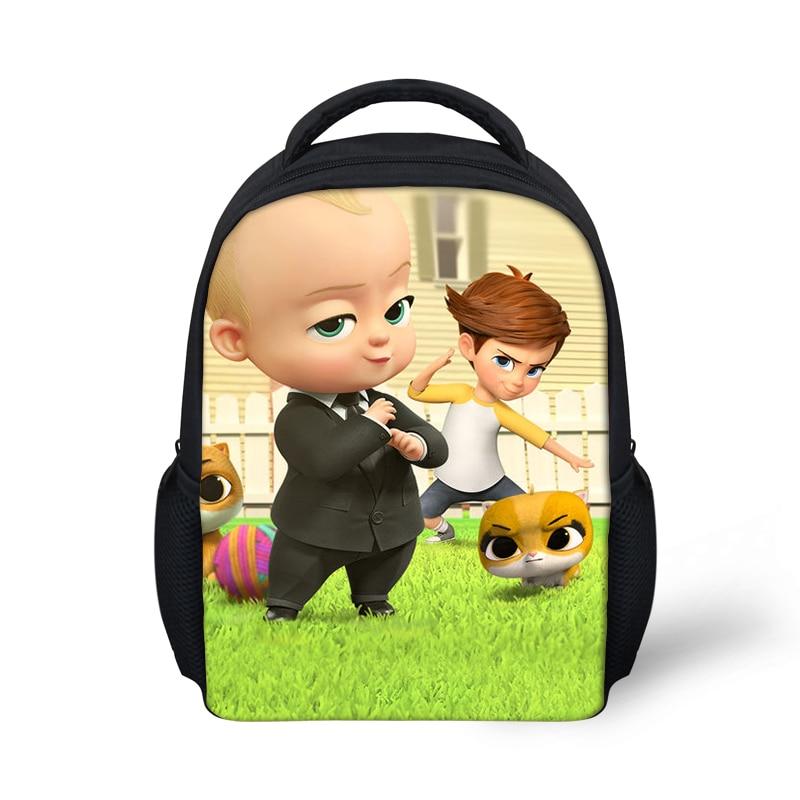 Us 6 99 30 Off Mini 12 Inch School Backpack For Baby Boy Girls Cartoon Boss Baby Kindergarten Bookbag Cute Satchel Mochila Dropship On Aliexpress