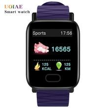 Смарт-часы UOIAE Fitbit для мужчин и женщин, наручные часы с функцией отслеживания сна, сердечного ритма, звонков, сообщений и напоминаний, с шагом...