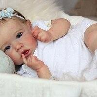 57cm corpo inteiro silicone boneca reborn silicone bebe boneca pano corpo opcional reborn bebê bonecas touh macio presente de natal para crianças