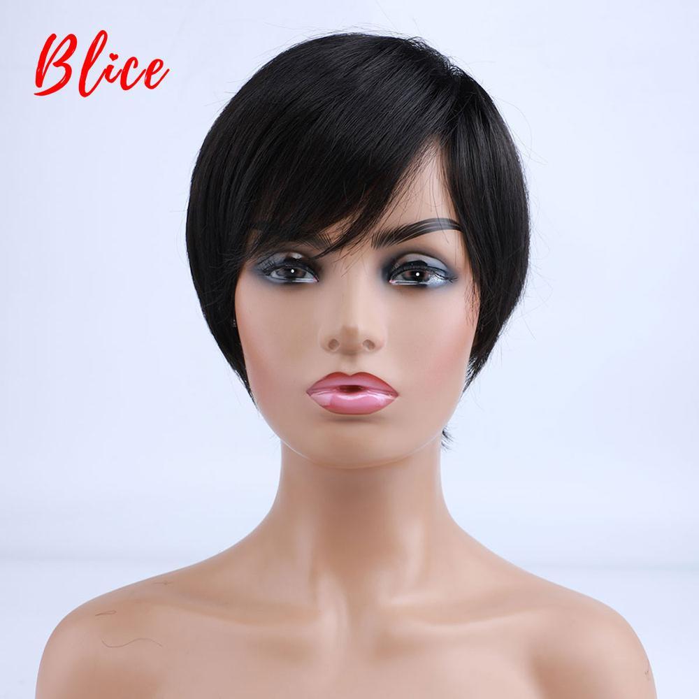 Blice синтетические волосы 6 дюймов короткие натуральные волнистые для женщин термостойкие 100% парик с канекалоном черные Повседневные Вечерние и Косплей парики|Синтетические парики для косплея|   | АлиЭкспресс
