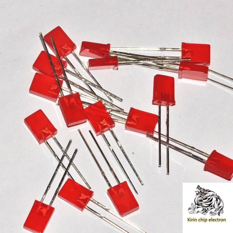 1000/PCS/LOT LED LED LED 2*5*7MM High Bright Red Red Light