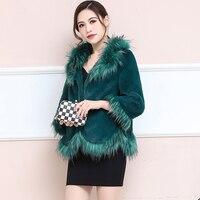 Autumn Winter Coat Women Clothes 2020 Faux Fox Fur Coat Female Jacket Korean Vintage Warm Tops Plus Size Manteau Femme ZT4759
