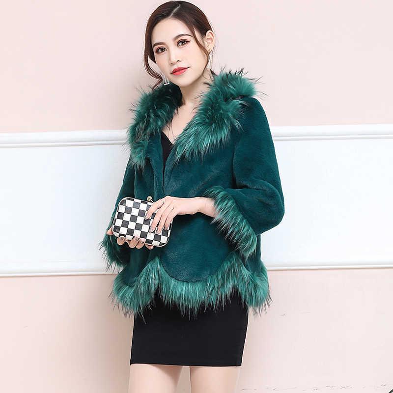 Herbst Winter Mantel Frauen Kleidung 2020 Faux Fuchs Pelz Mantel Weibliche Jacke Koreanische Vintage Warme Tops Plus Größe Manteau Femme ZT4759