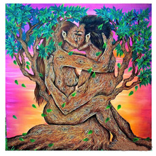 5D DIY Diamond Embroidery abstract couple tree kiss Painting fantasy lovers Cross Stitch Rhinestone bedroom decoration