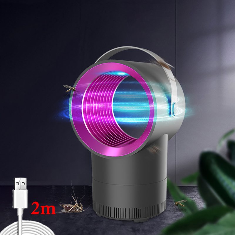 UV Mosquito Killer Lamp USB Powered 1m/2m Insect Killer Electric Bug Zapper Anti Mosquito Trap Light Outdoor LED Mosquito Lights(China)