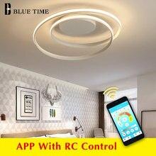 APP kontrolü basit akrilik ev için Modern tavan ışıkları oturma odası yatak odası mutfak tavan lambası ev aydınlatma armatürleri