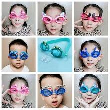 1 шт силиконовые Милые Мультяшные очки для плавания sainв противотуманные