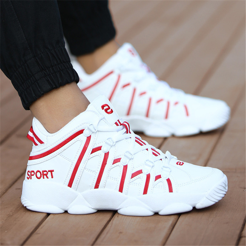 New Brand Basketball Shoes Men Women High top Sports Cushioning Hombre Athletic Mens Shoes Comfortable Black Sneakers Plus Size|Basketball Shoes| |  - title=