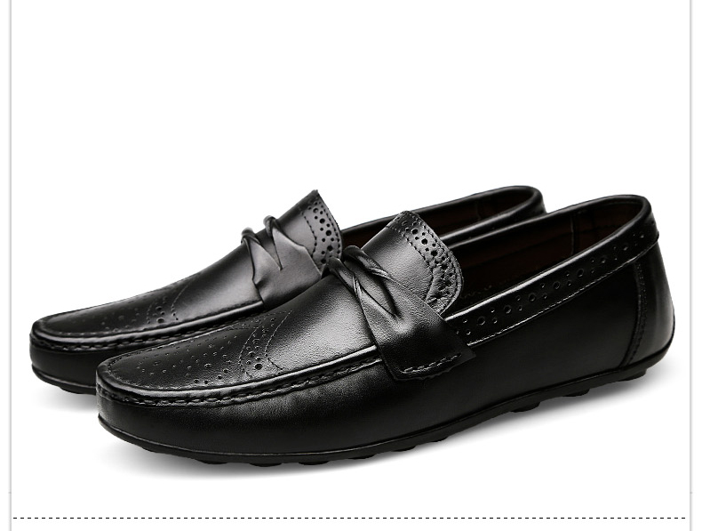 H65c8021df8ca416dad5cf0f104423768J Men Loafers Shoes Genuine Leather Casual Sneakers Male Fashion Carved Boat Footwear Soft Dress Party Shoes Men Chaussure Homme