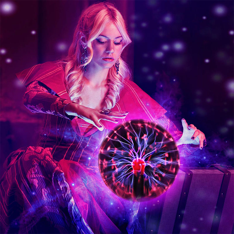 New Magic Electrostatic Ion Ball Lamp 3 Inch Colorful Black Base Glass Plasma Ball Lightning Light Crystal Party Novelty Light