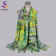 [BYSIFA] новые зимние женские кашемировые шарфы обертывания люксовый бренд толстые теплые зеленые пашмины шарф Дамский шарф шаль 200*70 см