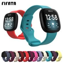 Цветной браслет FIFATA, ремешок на запястье для умных часов Fitbit Versa 3, ремешок для фитнес-браслета, спортивный мягкий силиконовый ремешок