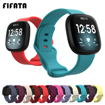 FIFATA Colorful Bracelet Wrist Strap For Fitbit Versa 3 Smart Watch Band For Fitbit Sense Wristband Sport Soft Silicone Straps for fitbit ionic sport watches straps silicone strap watch band bracelet replacement for fitbit ionic smart watch wristband belt
