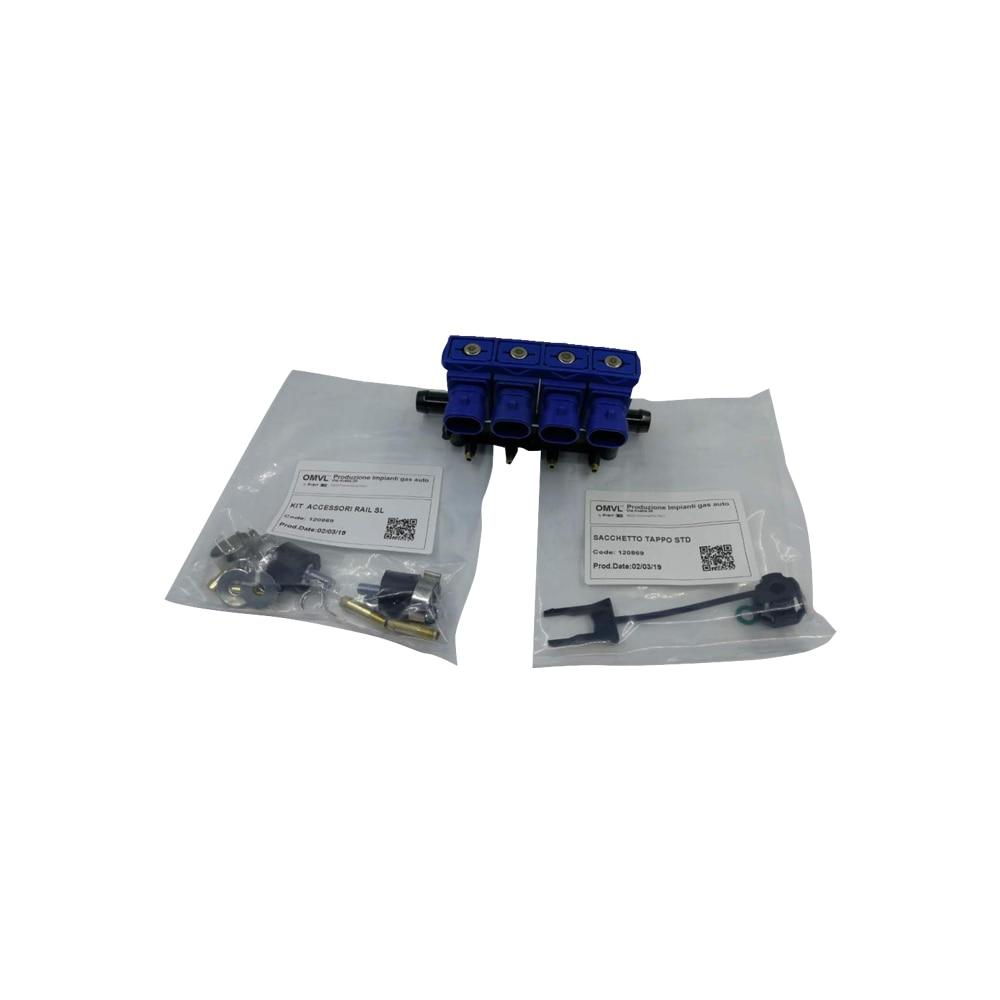 2oum CNG LPG Injector Rail OMVL REG 4CYL Injectors Rail