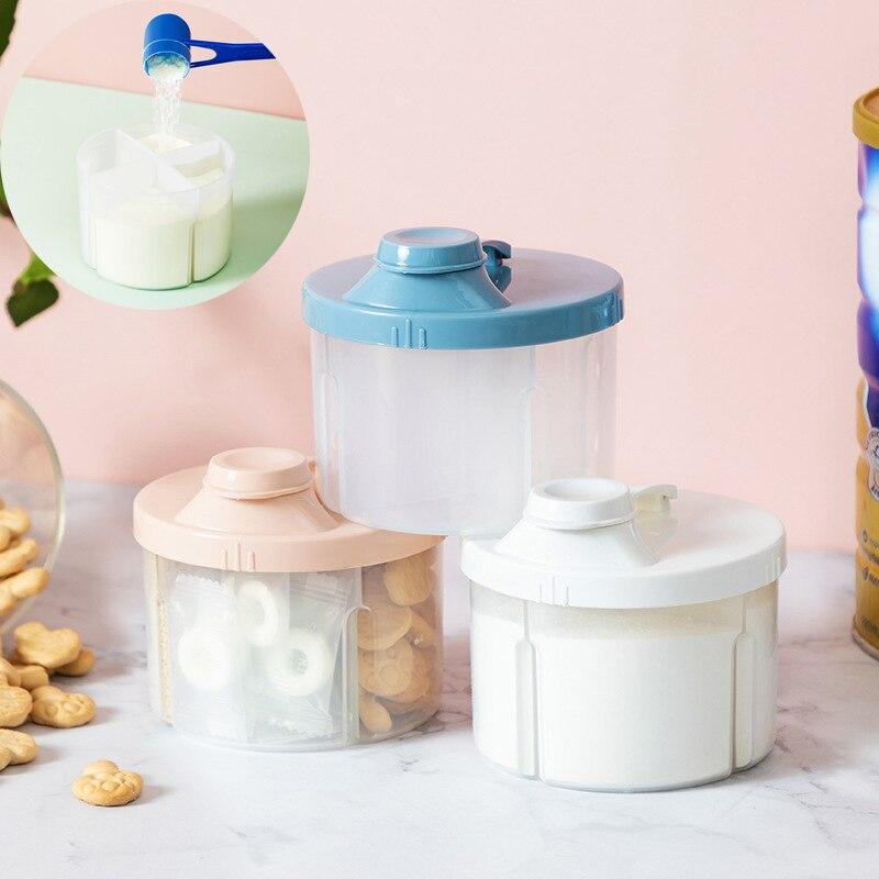4 сетки Портативный Детские Еда ящик для хранения эфирных Крупы младенец сухое молоко коробка Дети контейнер для закусок
