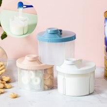 4 ızgara taşınabilir bebek maması saklama kutusu uçucu tahıl bebek süt tozu kutusu yürümeye başlayan çocuklar aperatifler konteyner