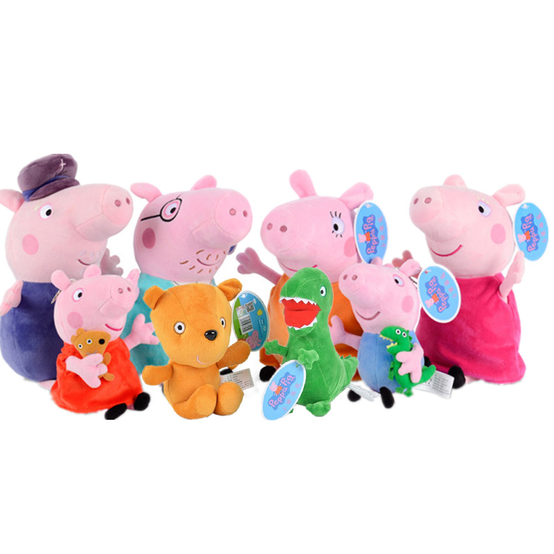 Peppa Pig Toys George Pepa Pig Family Friend19cm Stuffed Plush Toys Family Party Dolls Peppa Pig Birthday Decoration Gifts
