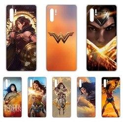 DC Wonder Woman Gal Gadot coque przezroczysty futerał na telefon do HUAWEI nove 5t p 8 9 10 p20 P30 p40 P pro Smart 2017 2019 Z lite