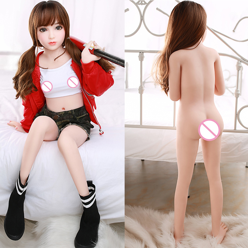 <font><b>Sex</b></font> <font><b>Doll</b></font> 130 cm Full Body Realistic <font><b>Silicone</b></font> <font><b>Sex</b></font> <font><b>Doll</b></font> Mini <font><b>Vagina</b></font> For Adult Lifelike <font><b>Ass</b></font> <font><b>Sex</b></font> Metal Skeleton Male Masturbation image