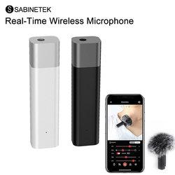 Sabinetek SmartMike + беспроводной Bluetooth Vlog радио микрофон в режиме реального времени микрофон для iPhone huawei DSLR камера Youtube Vlog
