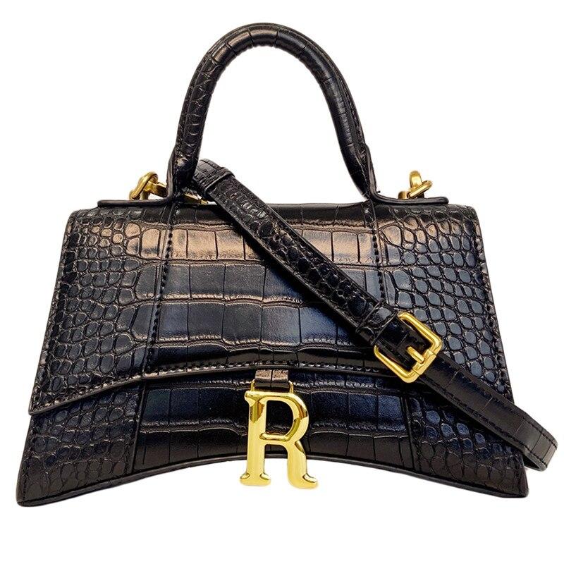2020 New Women Messenger Bags Fashion PU Leather Handbags Lady Crocodile Pattern Handbag Shoulder Crossbody Tote Bag